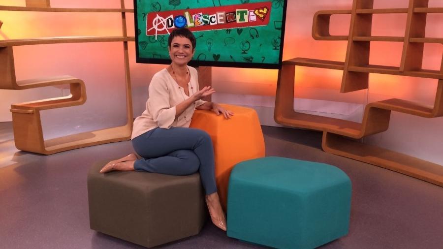 """Sandra Annenberg apresenta a série """"Adolescentes"""" no programa """"Como Será?"""" - Divulgação/TV Globo"""
