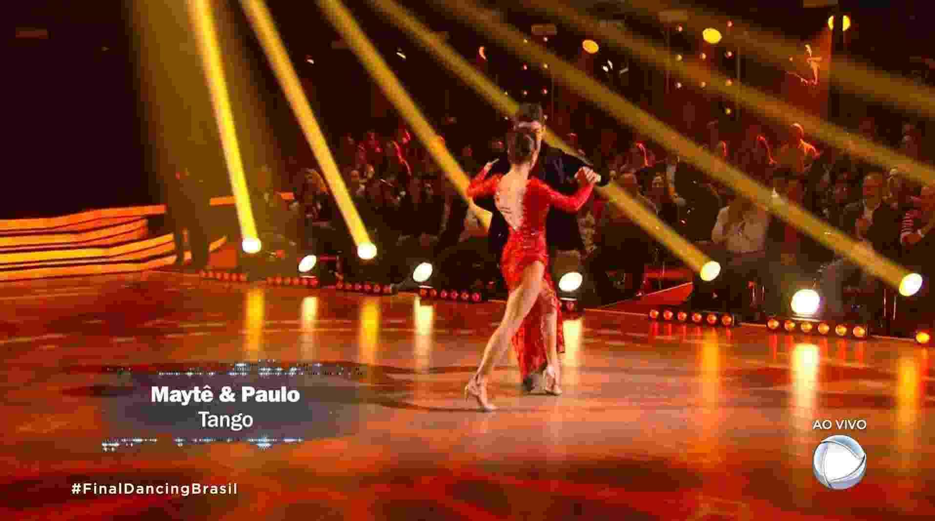 "Maytê Piragibe e Paulo Victor dançam tango na final do ""Dancing Brasil"" - Reprodução/Record"