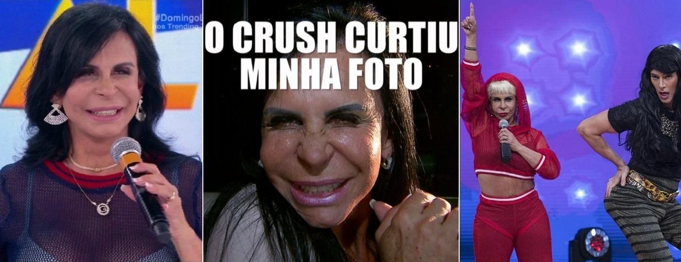"""Gretchen no """"Domingo Legal"""" (SBT), """"Fantástico"""" (Globo) e """"Hora do Faro"""" (Record) - Montagem/Reprodução/SBT/TV Globo/Divulgação/Record"""