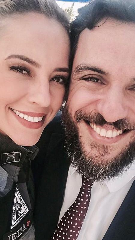 """Paolla Oliveira e Rodrigo Lombardi nos bastidores de """"A Força do Querer"""" - Reprodução/Instagram"""