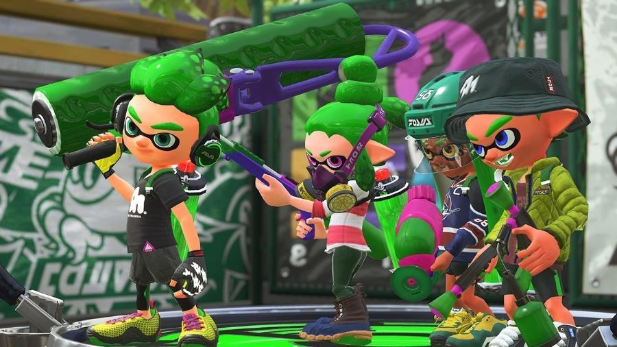 """Os Inklings esbanjam charme e estilo durante as partidas de """"Splatoon 2"""" - Divulgação/Nintendo"""