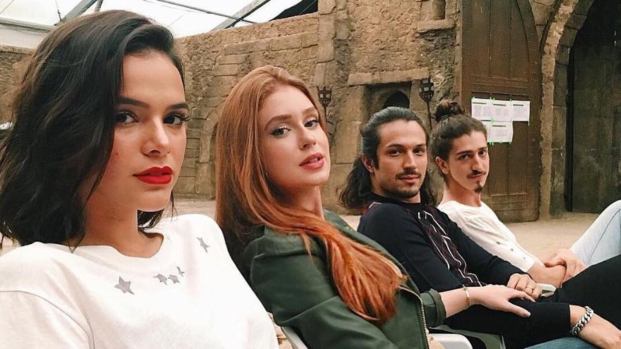 Bruna Marquezine, Marina Ruy Barbosa, Rômulo Estrela e Johnny Massaro - Reprodução/Instagram