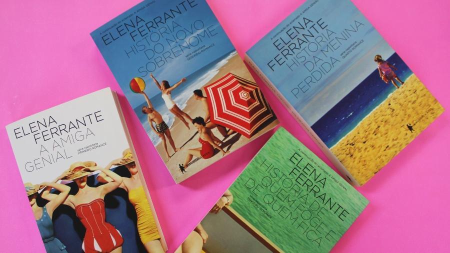 Os best-sellers da italiana desconhecida que se identifica pelo pseudônimo de Elena Ferrante — e encantou o mundo pelo seu retrato do feminino - Divulgação