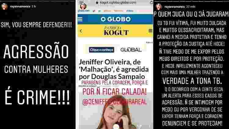 Rayanne Morais se pronuncia no Instagram sobre as acusações de Jeniffer Oliveira contra Douglas Sampaio - Reprodução/Instagram - Reprodução/Instagram