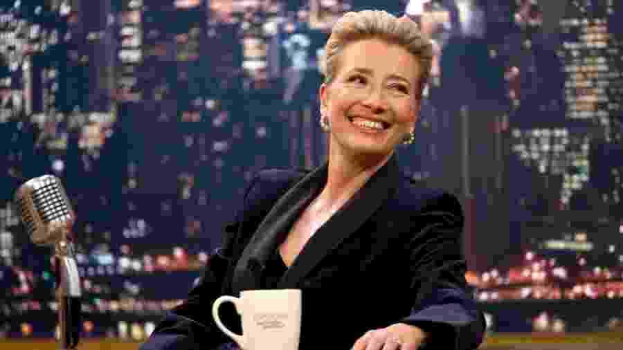 """Emma Thompson em cena de """"Late Night"""" - Divulgação/Emily Aragones"""