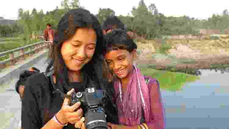 Angelina em um vilarejo de Bangladesh, em 2014 - Arquivo pessoal - Arquivo pessoal