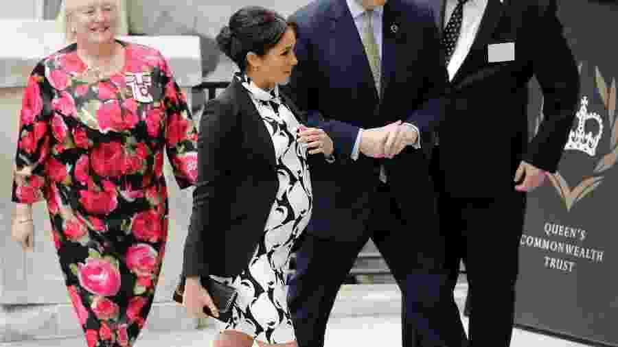 Meghan Markle chega para painel de debates no Dia Internacional das Mulheres - AFP