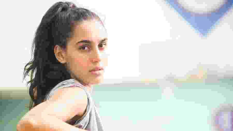 Giovana Coimbra interpreta Gabriela, uma jovem que sonha em se tornar jogadora de basquete - João Miguel Júnior/TV Globo