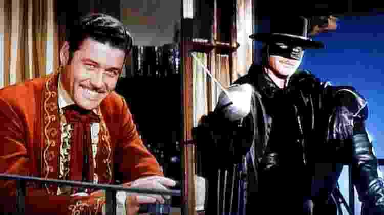 Guy Williams como o clássico Zorro da série da Disney - Reprodução