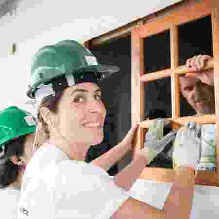 Equipe do projeto Re.Juntar trabalha na construção de casas para pessoas em situação de vulnerabilidade social  - Divulgação/Re.Juntar
