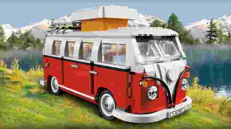 Kombi feita de Lego impressiona pela riqueza de detalhes - Divulgação