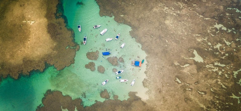 Vista aérea de Moreré, em Boipeba  - Márcio Filho/MTurDestinos