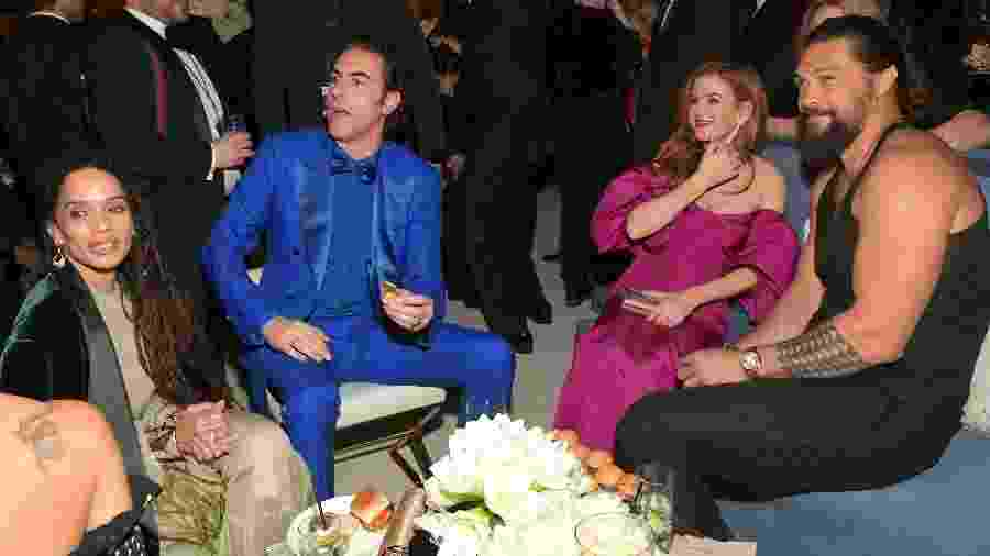 05.01.2020 - Lisa Bonet, Sacha Baron Cohen, Ilsa Fisher e Jason Momoa em festa pós-Globo de Ouro - Getty Images for InStyle