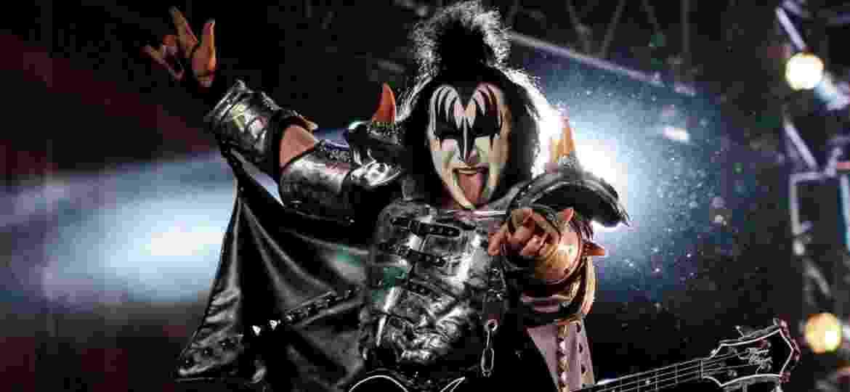 Gene Simmons, vocal e baixista do Kiss, que se apresentará em Uberlândia - Jhon Paz/Xinhua