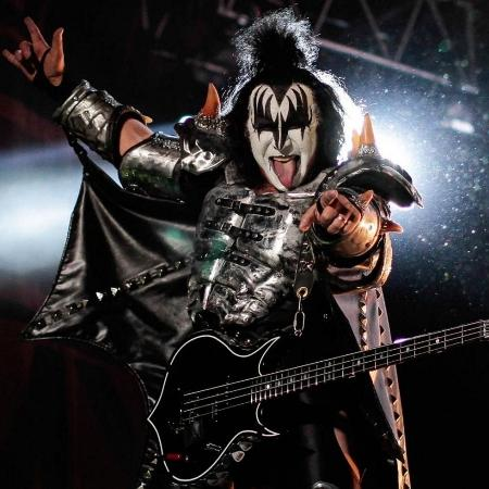 Gene Simmons, vocal e baixista do Kiss - Jhon Paz/Xinhua