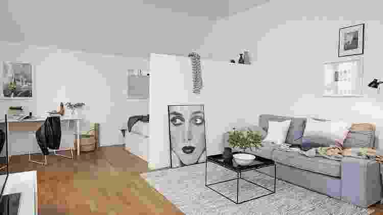 Kitnet minimalista - Reprodução/Pinterest - Reprodução/Pinterest