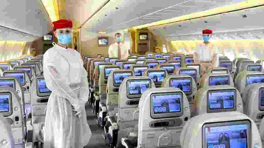 Seguindo medidas de segurança, voos da Emirates passarão pela capital paulista a partir do mês que vem - Divulgação