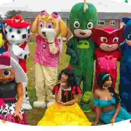 Grupo de animação de festas é alvo de ataques na Inglaterra - Reprodução/Meetandgreetmascots