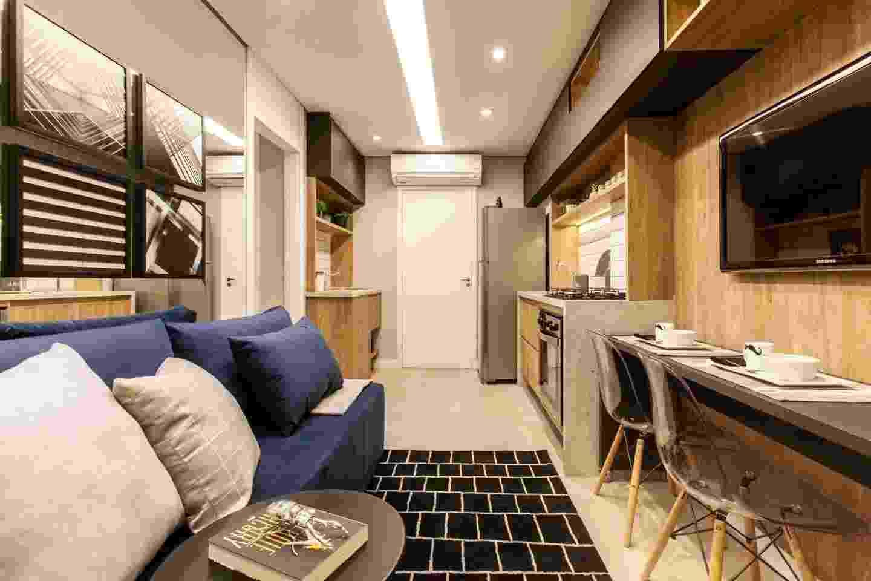 Decoração de apê com 27 m² mostra como é possível aproveitar pouco espaço - Eder Bruscagin