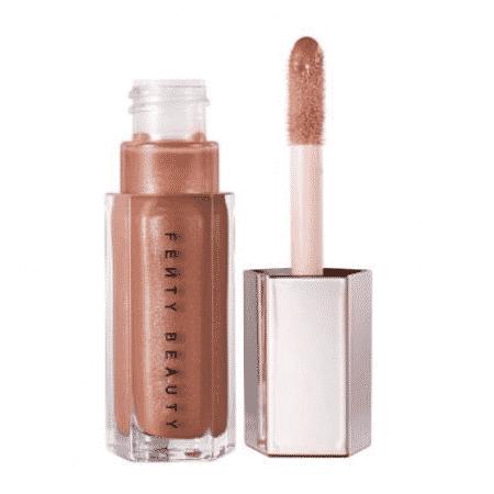 Gloss Bomb Universal Lip Luminizer na cor Fenty Glow - Divulgação