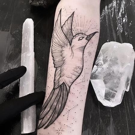 """Tatuagem feita dentro do projeto """"Cicatrizes"""" para ressignificar marcas de automutilação - Arquivo pessoal"""