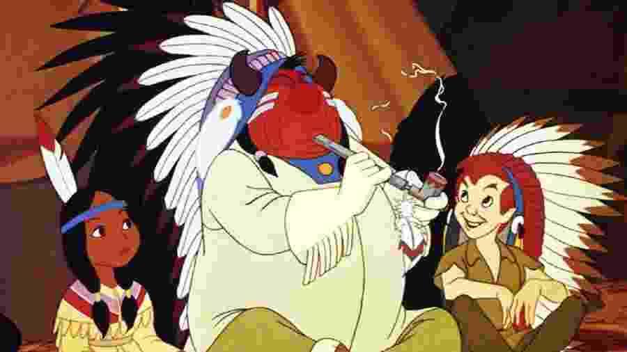 """A representação dos indígenas em """"Peter Pan"""" é considerada racista - Reprodução"""