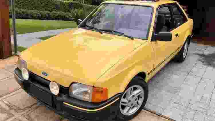 Ford Escort XR3 amarelo Joel Picelli - Arquivo pessoal - Arquivo pessoal