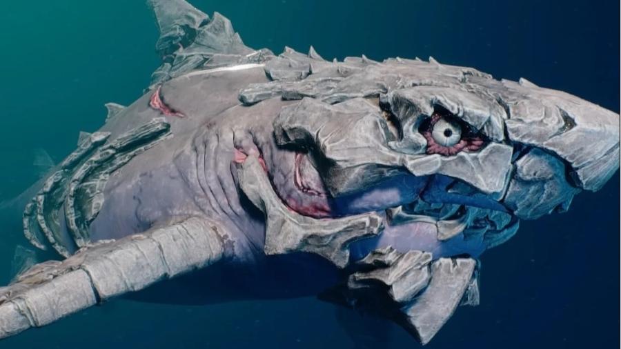"""O tubarão de Maneater pode ter várias """"armaduras"""" - Reprodução"""