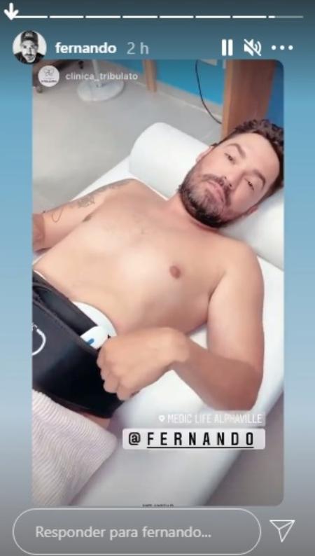 Fernando Zor faz tratamento para deixar o abdômen definido - Reprodução/Instagram@fernando - Reprodução/Instagram@fernando