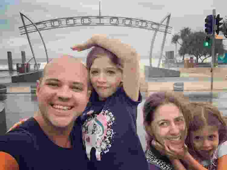 Ricardo e família durante viagem em Queensland - Arquivo pessoal - Arquivo pessoal