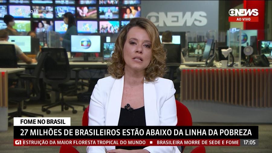 "Natuza Nery  durante o ""Jornal GloboNews"" - Reprodução/GloboNews"