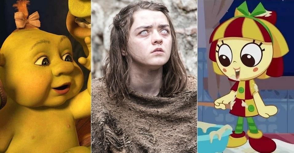 """Até a quinta temporada de """"Game of Thrones"""", Arya Stark (Maisie Williams) era dublada por Helena Palomanes, voz de Felicia, uma das filhas de Shrek. No sexto ano da série, o papel ficou com Isabella Guarnieri, dubladora de Emília no desenho de """"Sítio do Picapau Amarelo"""" e filha de Tatá Guarnieri (voz de Tyrion Lannister)"""
