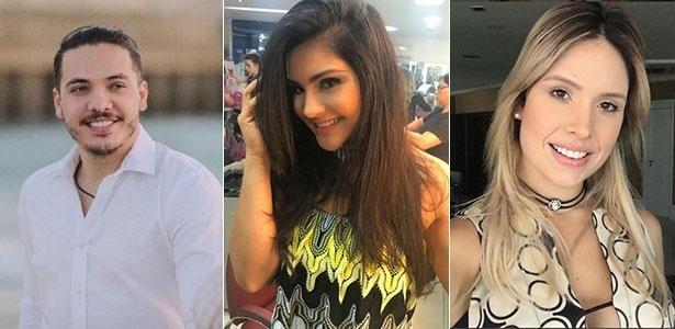 Wesley Safadão, a ex mulher, Mileide Mihaile, e a atual do cantor, Thyane Dantas - Instagram/Montagem