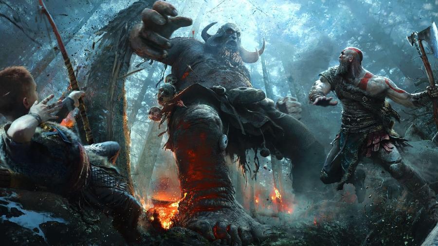 """O novo """"God of War"""" foi apenas um dos grandes jogos de ação exibidos na E3 - Divulgação/Sony Computer Entertainment"""