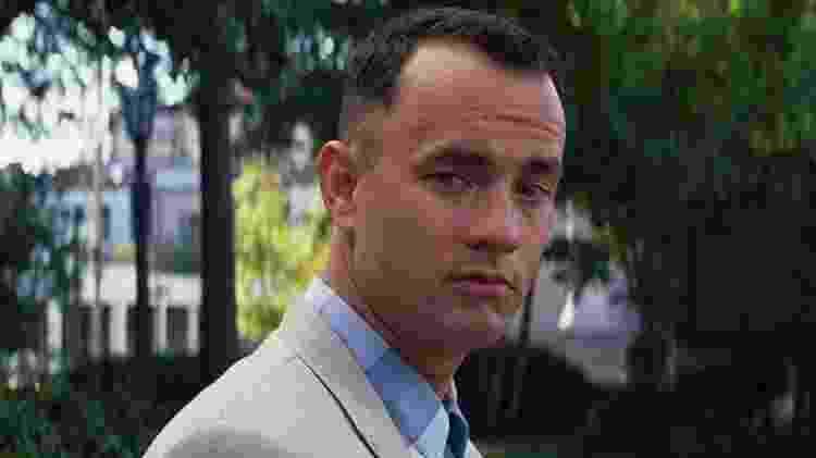 """Tom Hanks em cena de """"Forrest Gump"""" (1994) - Reprodução - Reprodução"""