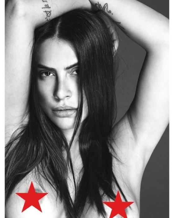 Cleo Pires compartilhou com seus fãs um nude de seus seios. A foto foi feita pelo fotógrafo Mert Alas