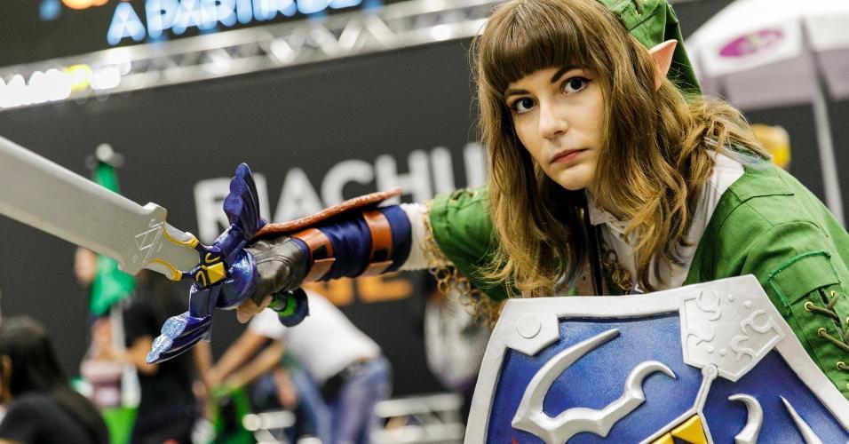 Zelda está pronta para a aventura no primeiro dia da CCXP