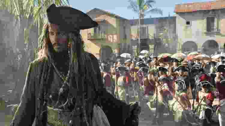 """Jack Sparrow (Johnny Depp) na franquia """"Piratas do Caribe"""" - Reprodução - Reprodução"""