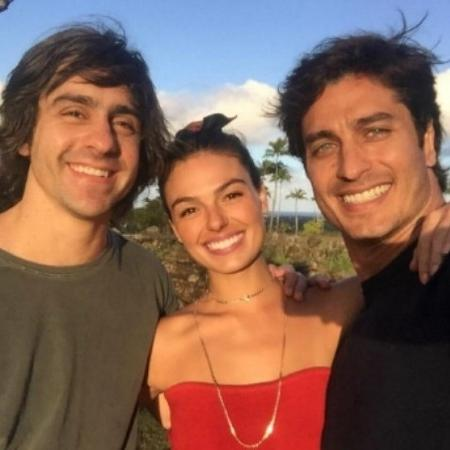 Felipe Abib e o casal Isis Valverde e André Resende - Reprodução/Instagram/isisvalverde