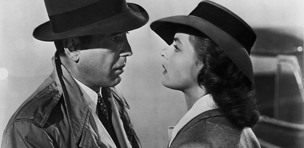 """Humphrey Bogart e Ingrid Bergman em uma história de amor que foi referência nos anos 40: """"Casablanca"""""""