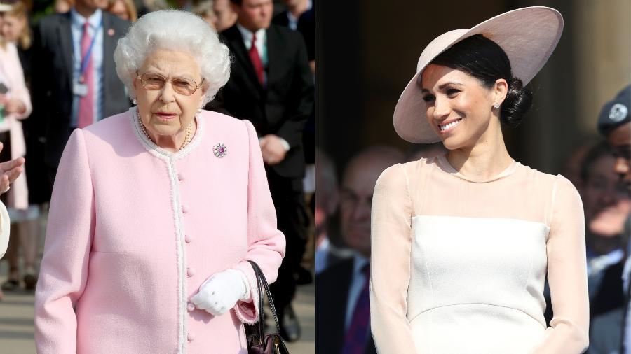 A rainha Elizabeth e Meghan, duquesa de Sussex - Getty Images