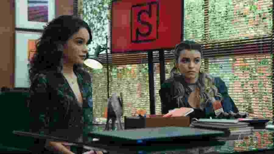 """Carol Macedo e Talita Younan voltam a contracenar juntas em """"O Tempo Não Para"""" - Reprodução/TV Globo"""