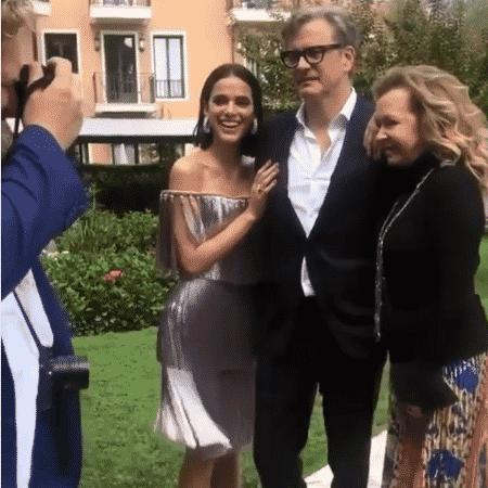 Bruna Marquezine com Colin Firth em Veneza - Reprodução/Instagram