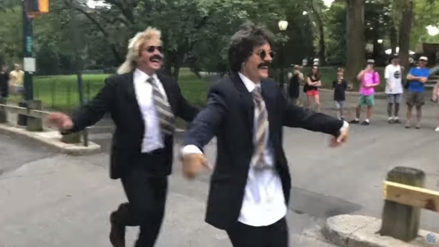 Jimmy Fallon e Justin Bieber no Central Park - Reprodução