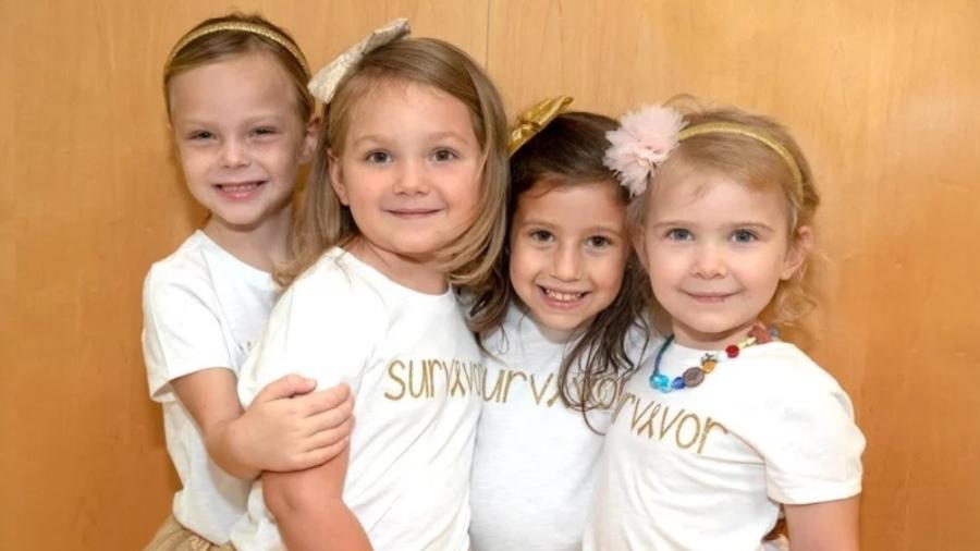 McKinley, Chloe, Ava e Lauren têm entre 4 e 6 anos - Divulgação/John Hopkins All Children?s Hospital