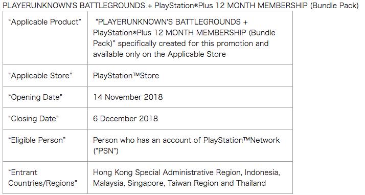 PUBG listado na loja do PlayStation de Hong Kong