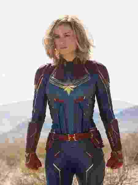 """A atriz Brie Larson vive Carol Danvers, personagem principal de """"Capitã Marvel"""" - Divulgação"""