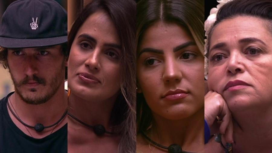 Alan, Carolina e Hariany e Tereza formam o sétimo paredão  - Montagem/TvGlobo