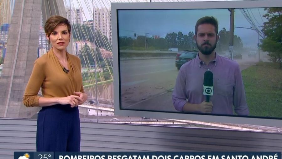 """Glória Vanique fala sobre o temporal em São Paulo durante o SPTV, exibido no lugar do """"Encontro com Fátima"""" - Reprodução/Globo"""