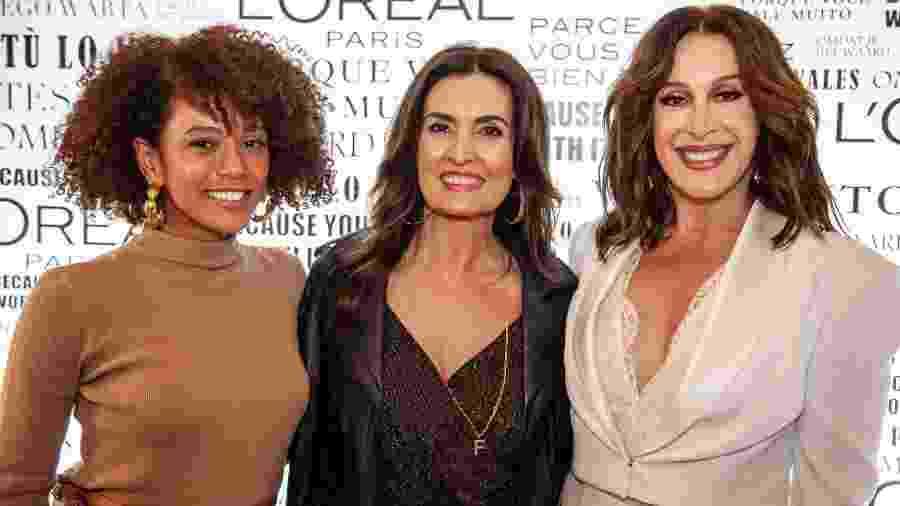 Taís Araújo, Fátima Bernardes e Claudia Raia em evento - Divulgação